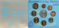 8,88 Euro 2003 San Marino Complete Euro Set   129,95 EUR  zzgl. 10,00 EUR Versand