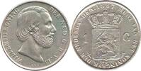 Netherlands 1 Gulden 1856 Very Fine+ Wille...
