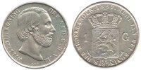 1 Gulden 1857 Netherlands Willem III 1849-1890 Very Fine / Extremely Fine  95,00 EUR  zzgl. 10,00 EUR Versand