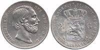 Netherlands 2½ Guilder 1851a Very Fine / Extremely Fine Willem III 1849 ... 99,50 EUR