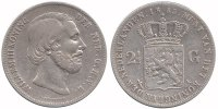 Netherlands 2½ Guilder 1853 Fine / Very Fine Willem III 1849 - 1890 224,50 EUR