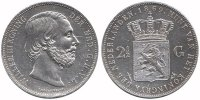 2½ Guilder 1869 Netherlands Willem III 1849 - 1890 Extremely Fine  89,50 EUR  +  10,00 EUR shipping