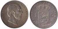 1 Guilder 1858 Netherlands Willem III 1849 - 1890 Fdc -  159,50 EUR  zzgl. 10,00 EUR Versand