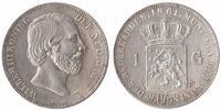 1 Guilder 1861 Netherlands Willem III 1849 - 1890 Extremely Fine / Unc  149,50 EUR  zzgl. 10,00 EUR Versand