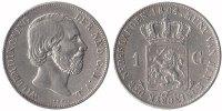 1 Guilder 1864 Netherlands Willem III 1849 - 1890 Very Fine  59,50 EUR  zzgl. 10,00 EUR Versand