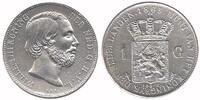 1 Guilder 1865 Netherlands Willem III 1849 - 1890 Extremely Fine  89,50 EUR  zzgl. 10,00 EUR Versand