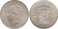 2½ Guilder 1940 Netherlands Wilhelmina 1890 - 1948 Extremely Fine  59,50 EUR  zzgl. 10,00 EUR Versand