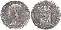 1 Guilder 1892 Netherlands Wilhelmina 1890 - 1948 Extremely Fine -  119,50 EUR  zzgl. 10,00 EUR Versand