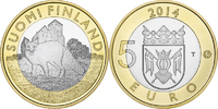 5 Euro 2014 Finland Animals of the Provinces – Proper Unc  8,95 EUR