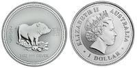 1 Dollar 2007 Australien / Australia Year of the Pig Stempelglanz  72,95 EUR  zzgl. 10,00 EUR Versand