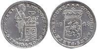Silber Dukat Piedfort 1748 Niederlande / Provinz Zeeland Stehender Ritt... 1275,00 EUR kostenloser Versand