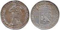 Niederlande / Provinz Zeeland Silberdukat Stehender Ritter.