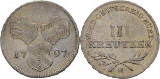 3 Kreuzer 1794 RDR Burgau Günzburg Franz I...