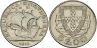 5 Escudo 1948 Portugal  vz  15,00 EUR  zzgl. 3,00 EUR Versand