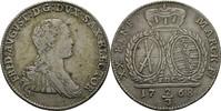 2/3 Taler 1768 Sachsen Friedrich August III./I., 1763-1827. Kratzer, ss  40,00 EUR  zzgl. 3,00 EUR Versand