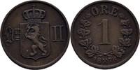 1 Öre 1878 Norwegen Oscar II., 1872-1907 fast vz  50,00 EUR  zzgl. 3,00 EUR Versand