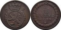 1/2 Kreuzer 1773 Pfalz, kurlinie Karl Theodor 1743-1799 ss  15,00 EUR  zzgl. 3,00 EUR Versand
