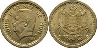 2 Francs 1945 Monaco Louis II., 1922-49 fast Stempelglanz  7,00 EUR  zzgl. 3,00 EUR Versand