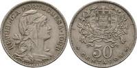 50 Centavos 1928 Portugal  vz  20,00 EUR  zzgl. 3,00 EUR Versand