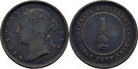 1/2 Cent 1872 H Straits Settlements Victoria, 1837-1901 fast ss  40,00 EUR  zzgl. 3,00 EUR Versand