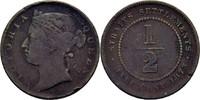 1/2 Cent 1873 Straits Settlements Victoria, 1837-1901 fast ss  40,00 EUR  zzgl. 3,00 EUR Versand