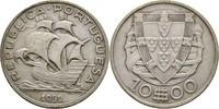 10 Escudos 1932 Portugal Segelschiff ss  15,00 EUR  zzgl. 3,00 EUR Versand
