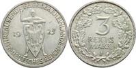 3 Reichsmark 1925 J Deutsches Reich  kl. Randschlag, f.vz  45,00 EUR  zzgl. 3,00 EUR Versand
