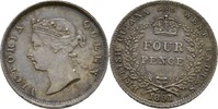 Four Pence 1891 BRITISH GUYANA AND WEST INDIES Victoria, 1837-1901 fast... 165,00 EUR  zzgl. 3,00 EUR Versand