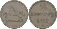2 Pfennig 1852 Braunschweig Wilhelm, 1831-1884 vz  12,00 EUR  zzgl. 3,00 EUR Versand