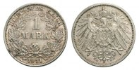 1 Mark 1911 G Kaiserreich Mzst. Karlsruhe Stempelglanz  60,00 EUR  zzgl. 3,00 EUR Versand