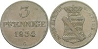 3 Pfenige 1834 Sachsen Anton, 1827 - 1836 vz+  75,00 EUR