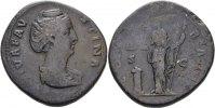 RÖMISCHE KAISERZEIT Sesterz Antoninus I. Pius, 138-161 für Diva Faustina mater.