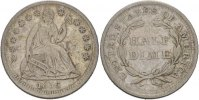 1/2 Dime 1856 USA  s-ss  45,00 EUR  zzgl. 3,00 EUR Versand