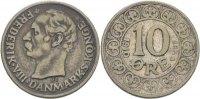 10 Öre 1910 VBP Dänemark Frederik VIII. ss  40,00 EUR  zzgl. 3,00 EUR Versand