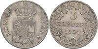 3 Kreuzer 1854 Bayern Maximilian II., 1848-1864. vz  40,00 EUR  zzgl. 3,00 EUR Versand