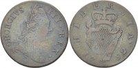 1/2 Penny 1782 Ireland George III., 1760-1820. ss  35,00 EUR  zzgl. 3,00 EUR Versand