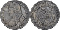 1/2 Dollar (50 Cent) 1832 USA  ss  115,00 EUR  zzgl. 3,00 EUR Versand