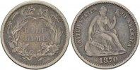 1/2 Dime 1870 USA  ss  35,00 EUR  zzgl. 3,00 EUR Versand
