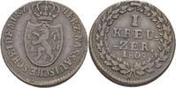 Kreuzer 1809 Nassau Gemeinschaftlich. ss  50,00 EUR  zzgl. 3,00 EUR Versand