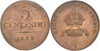 5 Centesimi 1822 Austria Lombardei Venetien Venedig Franz II./I., 1792-... 80,00 EUR  zzgl. 3,00 EUR Versand
