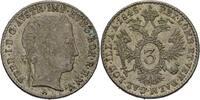 3 Kreuzer 1845 Austria Habsburg Wien Ferdinand I., 1835-1848. vz+  40,00 EUR  zzgl. 3,00 EUR Versand