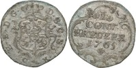 Kreuzer 1765 Sachsen Coburg Saalfeld Ernst Friedrich, 1764-1800  ss  35,00 EUR  zzgl. 3,00 EUR Versand