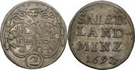 2 Kreuzer 1692 Salzburg Johann Ernst von Thun und Hohenstein, 1687-1709... 90,00 EUR  zzgl. 3,00 EUR Versand