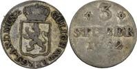 3 Stüber 1792 Jülich Berg Karl Theodor, 1742-1799 ss  15,00 EUR  zzgl. 3,00 EUR Versand