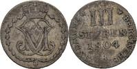 3 Stüber 1804 Jülich Berg Maximilian IV. Joseph, 1799-1806 ss  20,00 EUR  zzgl. 3,00 EUR Versand