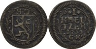 Kreuzer 1733 Hessen Darmstadt Ernst Ludwig, 1678-1739 ss  12,00 EUR  zzgl. 3,00 EUR Versand