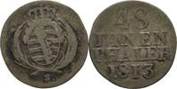 1/48 Taler 1813 Sachsen Friedrich August III./I. 1763-1827 ss  12,00 EUR  zzgl. 3,00 EUR Versand
