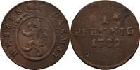 Pfennig 1789 Hessen Darmstadt Ludwig IX., 1768-1790 ss  40,00 EUR  zzgl. 3,00 EUR Versand