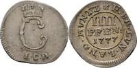 4 Pfennig 1777 Braunschweig Wolfenbüttel Karl I., 1735-1780 kl. Zainend... 60,00 EUR  zzgl. 3,00 EUR Versand