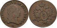 1/2 Kreuzer 1800 RDR Austria Habsburg Wien Franz II./I., 1792-1835. vz+  25,00 EUR  zzgl. 3,00 EUR Versand